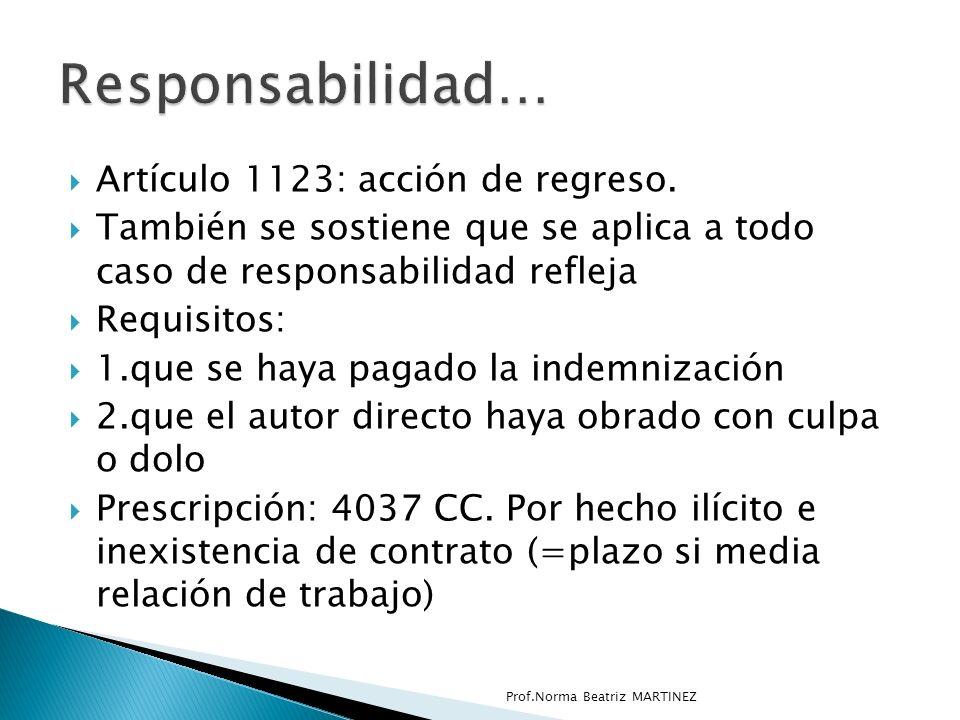 Responsabilidad… Artículo 1123: acción de regreso.