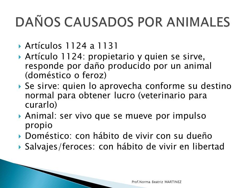 DAÑOS CAUSADOS POR ANIMALES