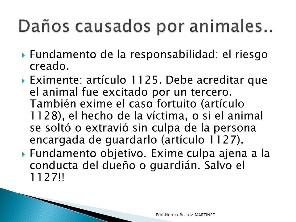 Daños causados por animales..