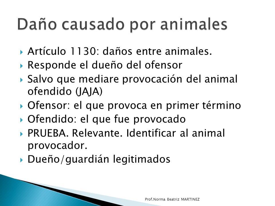 Daño causado por animales