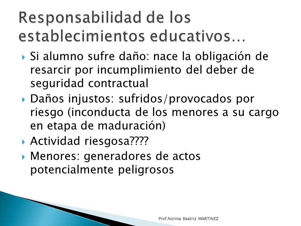 Responsabilidad de los establecimientos educativos…
