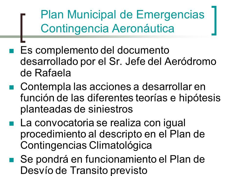 Plan Municipal de Emergencias Contingencia Aeronáutica