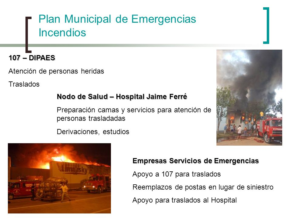 Plan Municipal de Emergencias Incendios