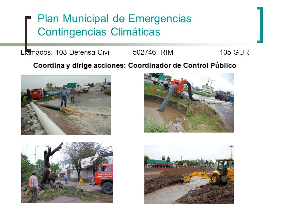 Coordina y dirige acciones: Coordinador de Control Público
