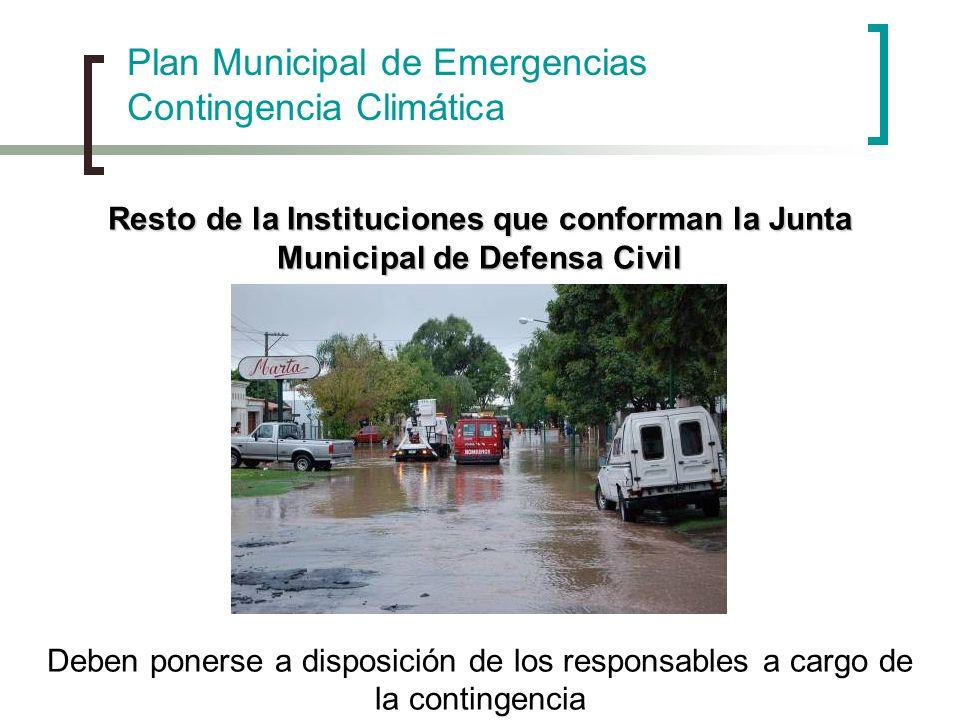 Plan Municipal de Emergencias Contingencia Climática