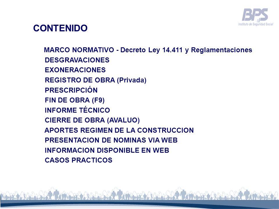 CONTENIDO MARCO NORMATIVO - Decreto Ley 14.411 y Reglamentaciones