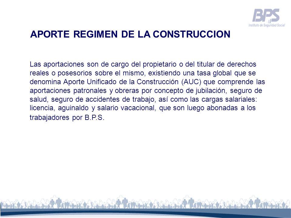 APORTE REGIMEN DE LA CONSTRUCCION