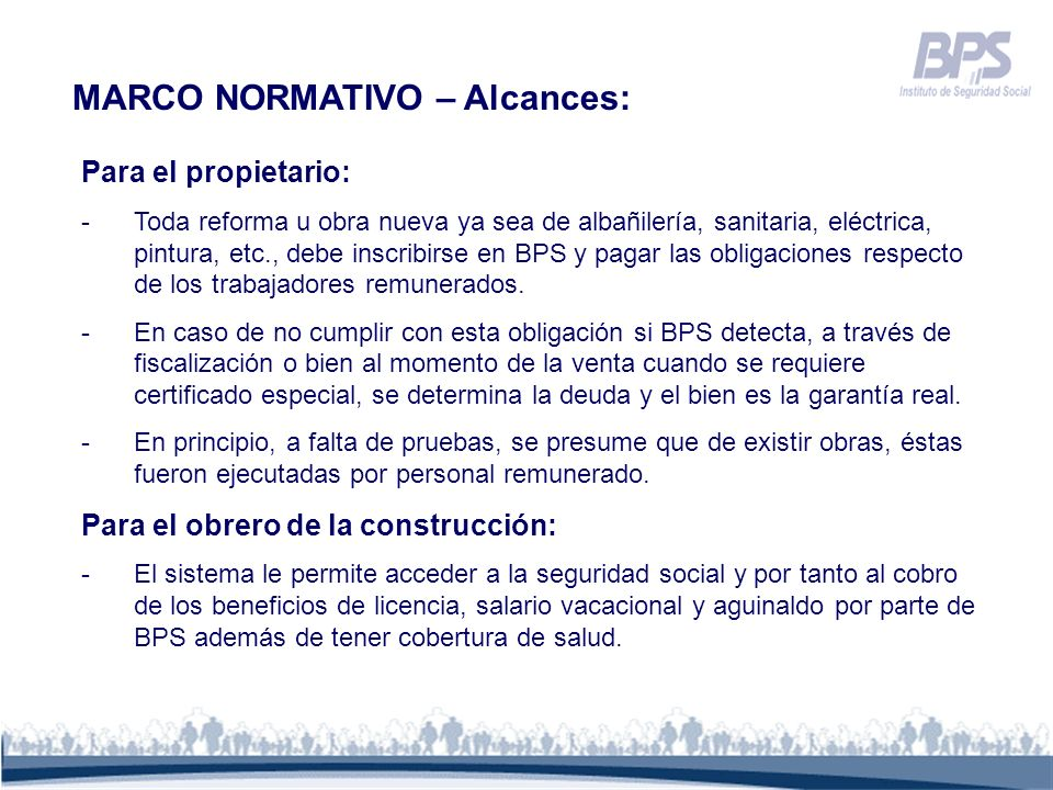 MARCO NORMATIVO – Alcances: