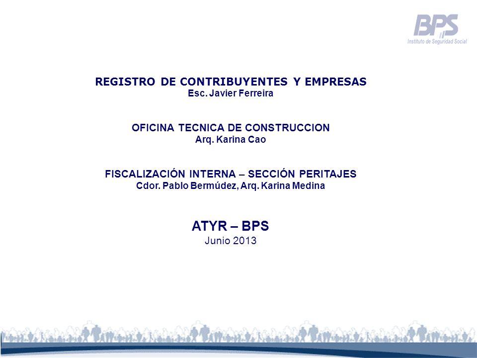 ATYR – BPS REGISTRO DE CONTRIBUYENTES Y EMPRESAS