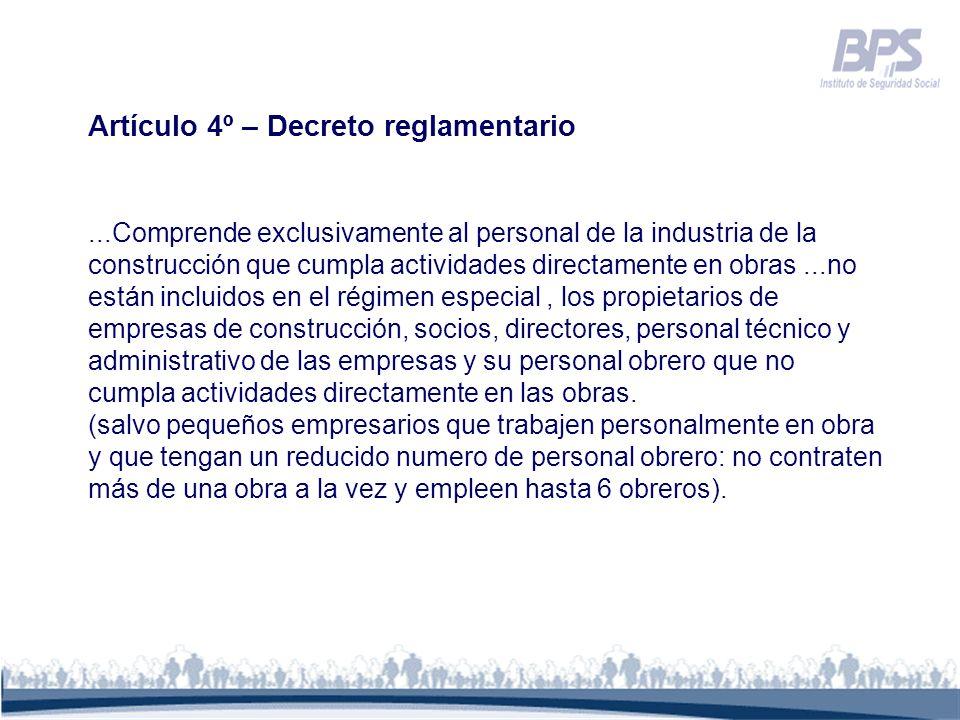 Artículo 4º – Decreto reglamentario