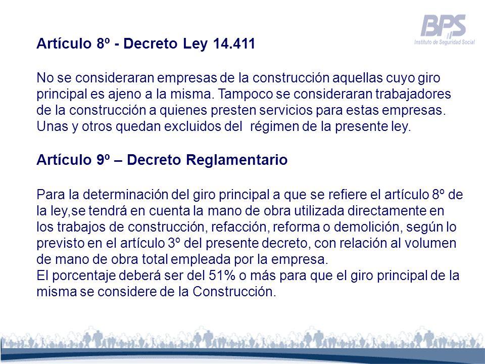 Artículo 8º - Decreto Ley 14.411