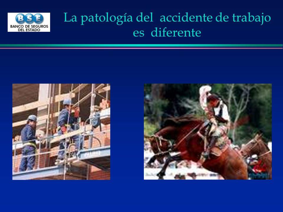 La patología del accidente de trabajo es diferente