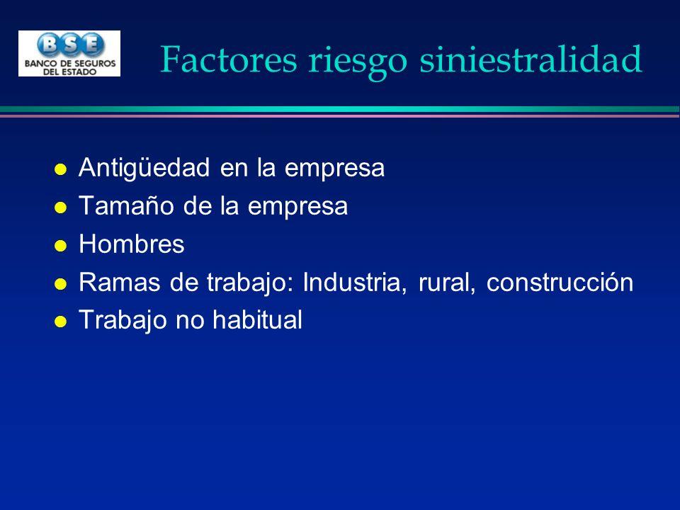 Factores riesgo siniestralidad