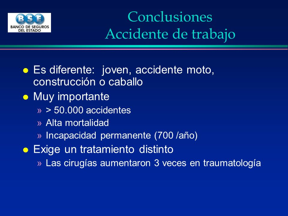 Conclusiones Accidente de trabajo