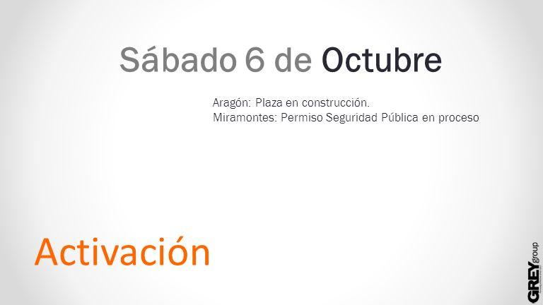 Activación Sábado 6 de Octubre Aragón: Plaza en construcción.