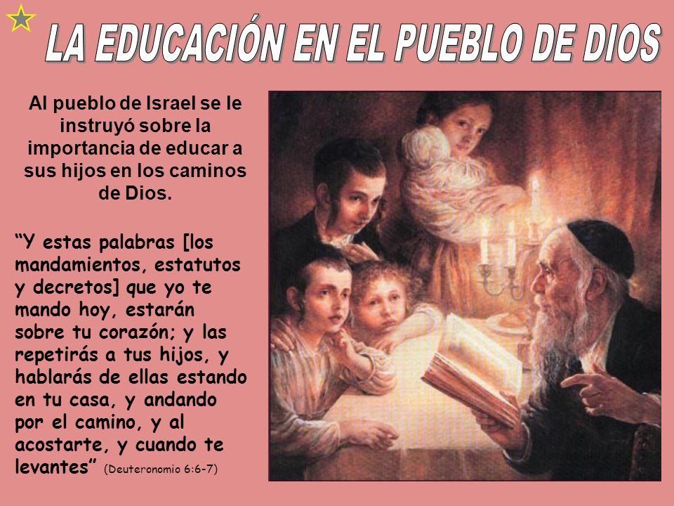 LA EDUCACIÓN EN EL PUEBLO DE DIOS