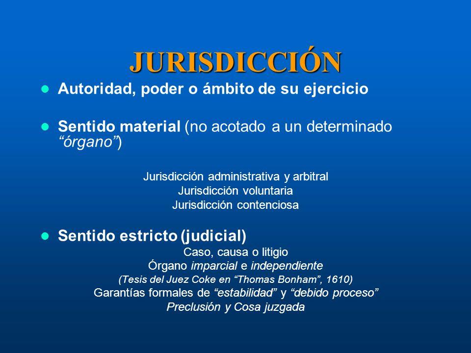 JURISDICCIÓN Autoridad, poder o ámbito de su ejercicio