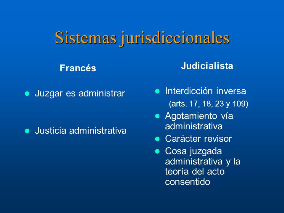 Sistemas jurisdiccionales