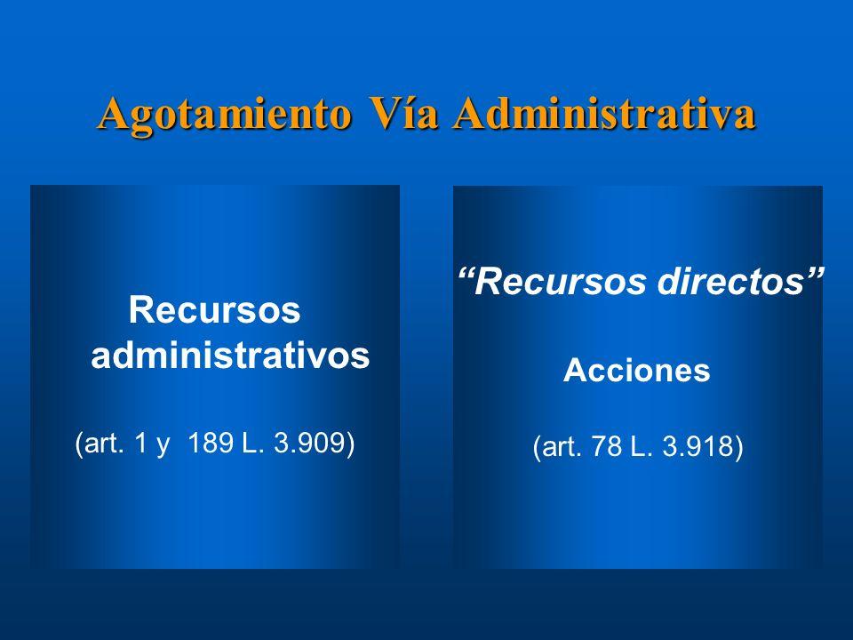 Agotamiento Vía Administrativa