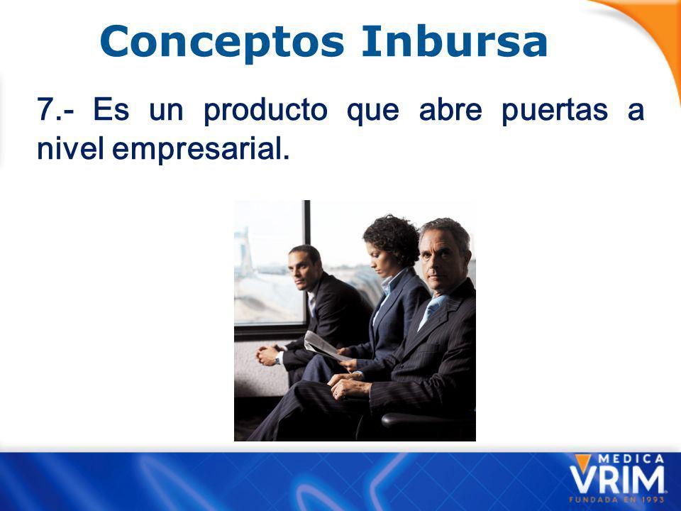 Conceptos Inbursa 7.- Es un producto que abre puertas a nivel empresarial.