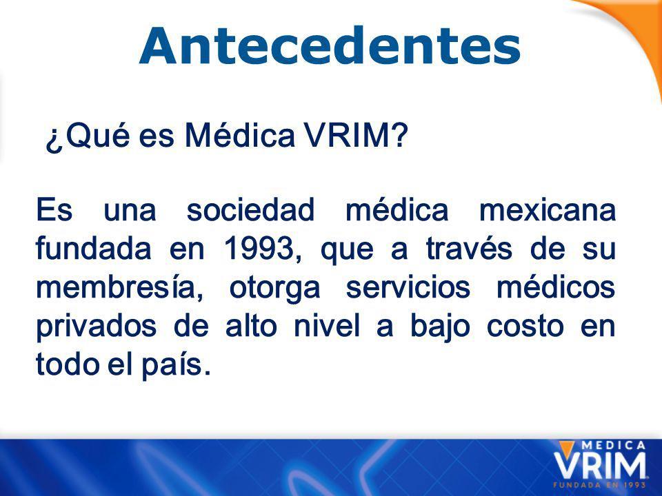 Antecedentes ¿Qué es Médica VRIM