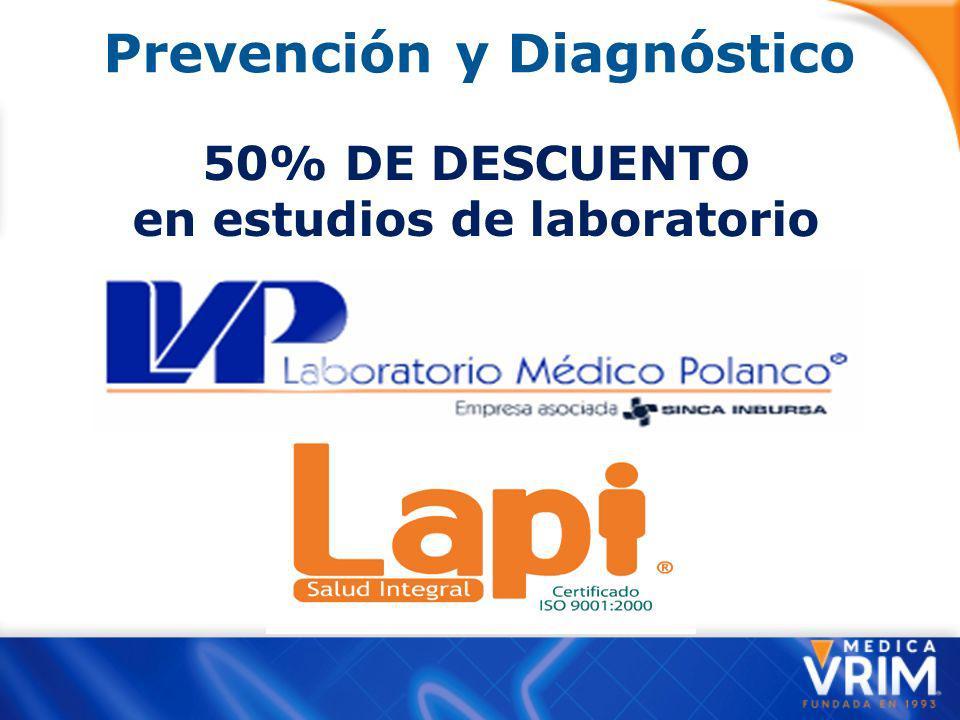 Prevención y Diagnóstico en estudios de laboratorio
