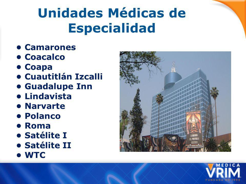 Unidades Médicas de Especialidad