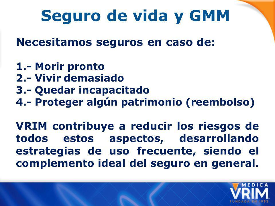 Seguro de vida y GMM Necesitamos seguros en caso de: