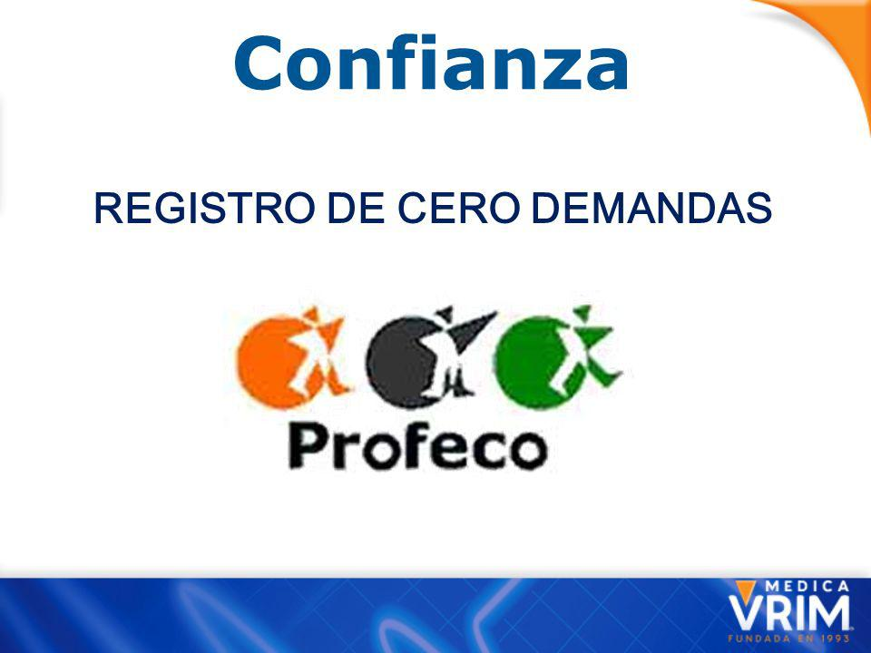 REGISTRO DE CERO DEMANDAS