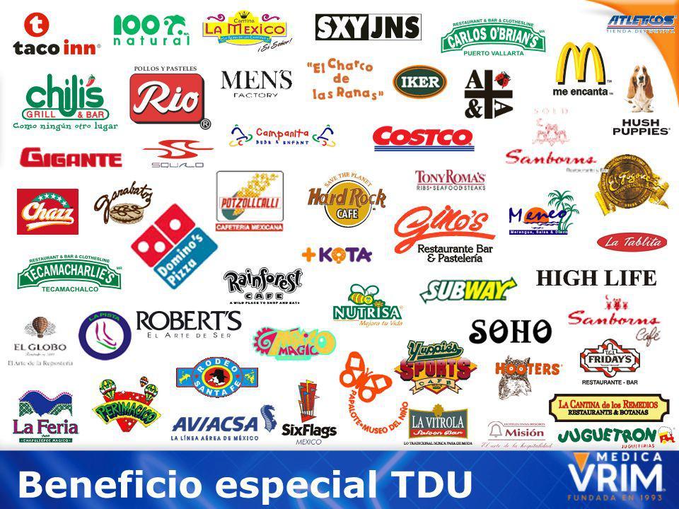 Beneficio especial TDU
