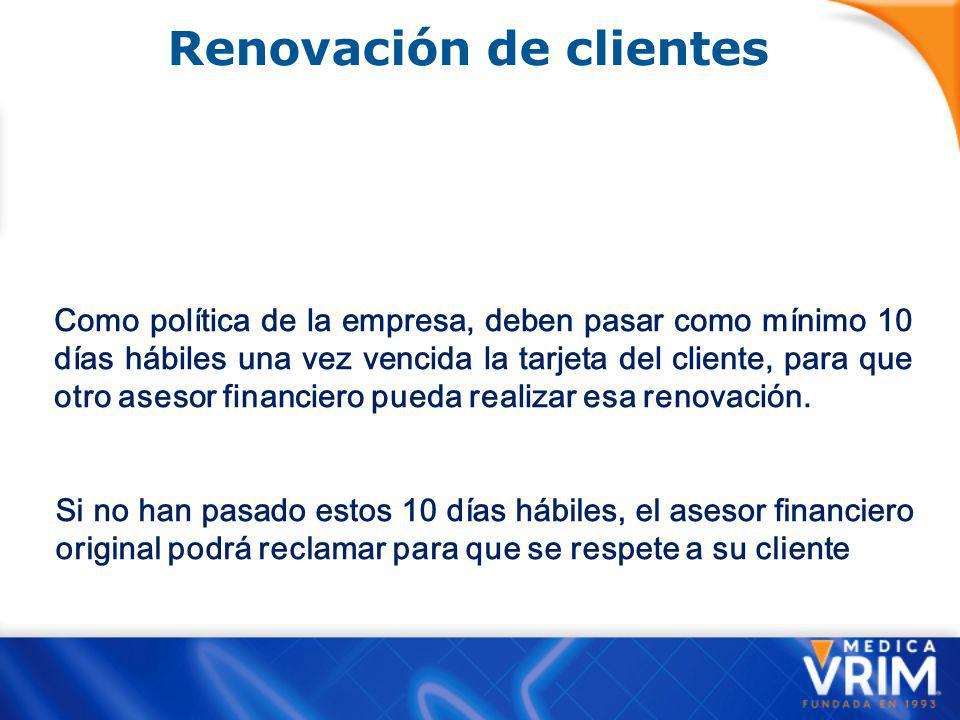 Renovación de clientes