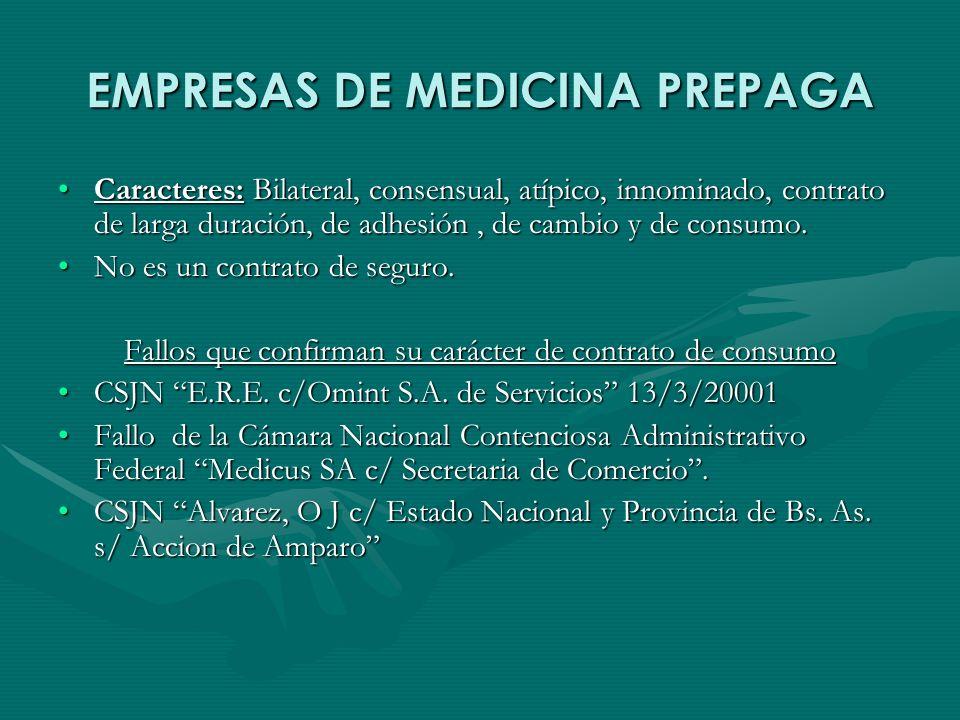 EMPRESAS DE MEDICINA PREPAGA
