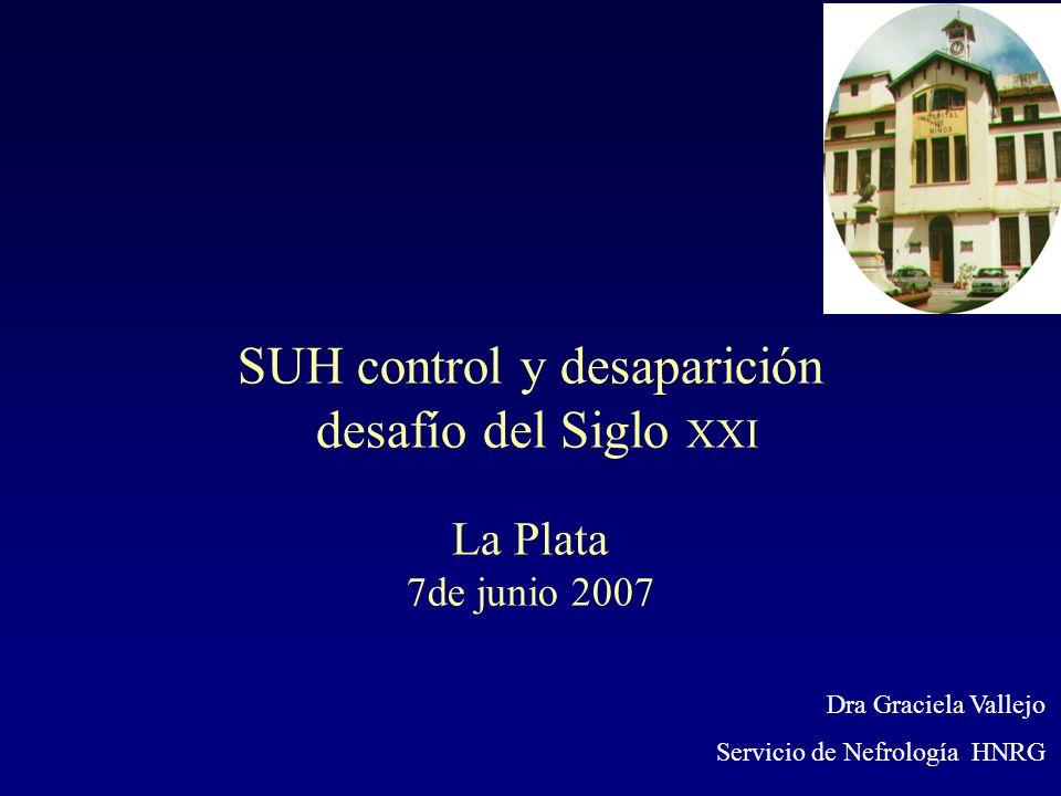SUH control y desaparición desafío del Siglo XXI La Plata 7de junio 2007