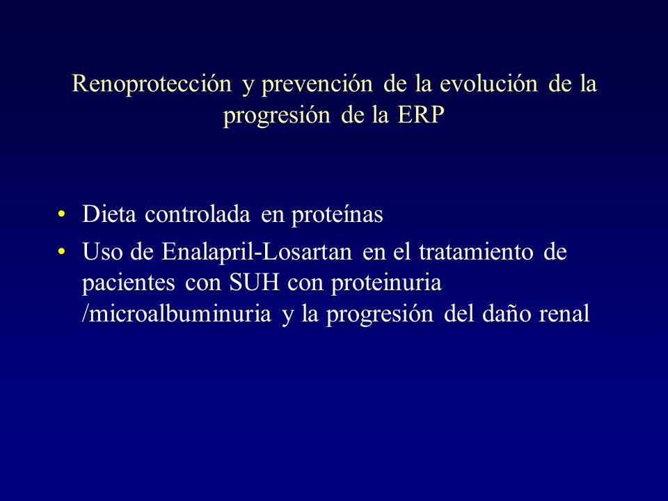 Renoprotección y prevención de la evolución de la progresión de la ERP