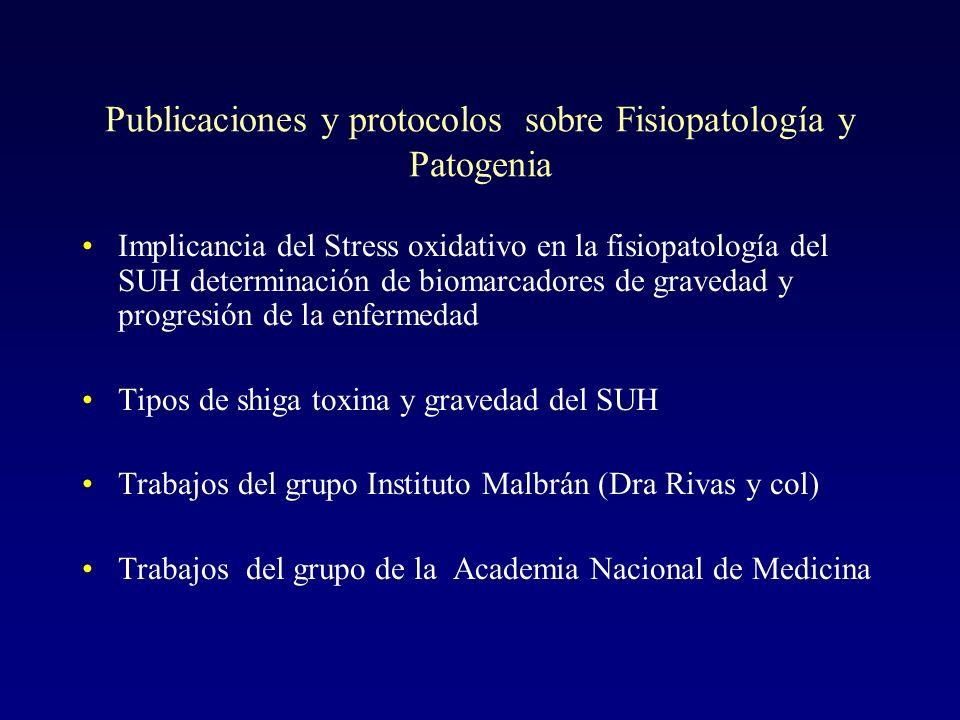 Publicaciones y protocolos sobre Fisiopatología y Patogenia
