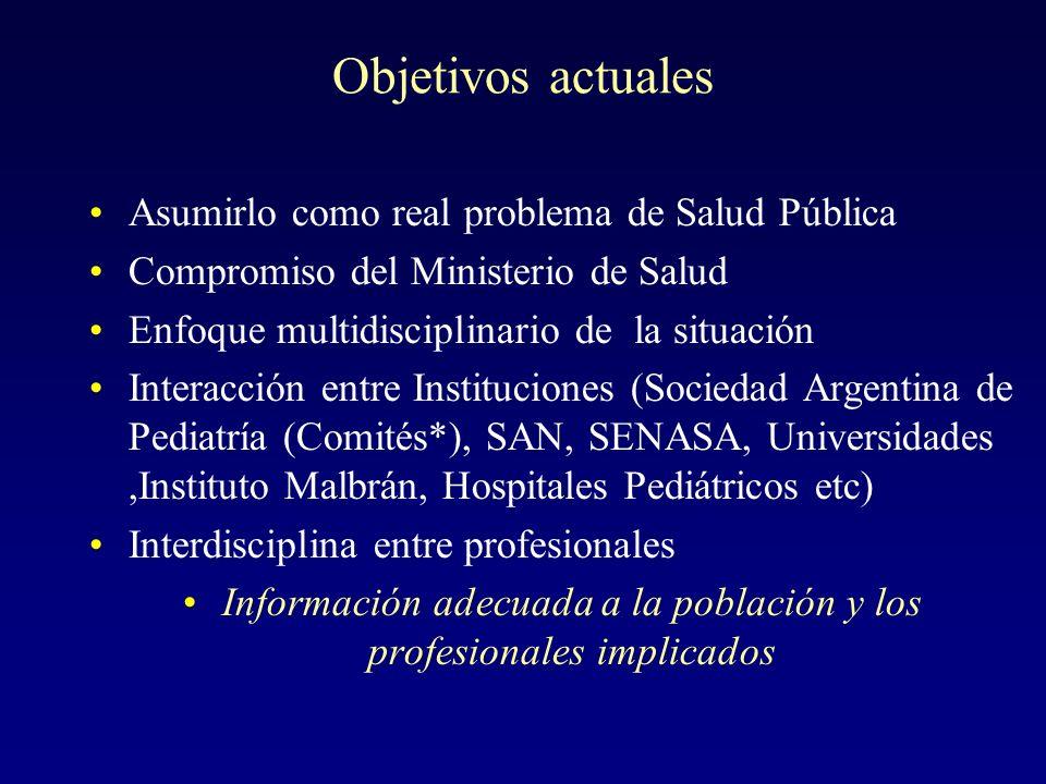 Información adecuada a la población y los profesionales implicados