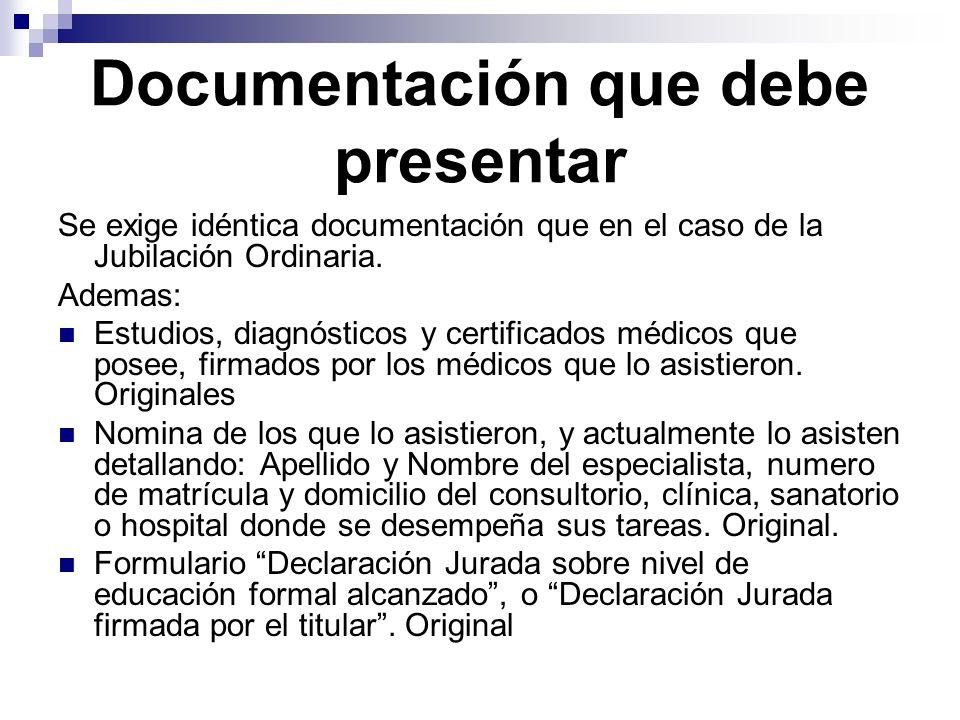 Documentación que debe presentar
