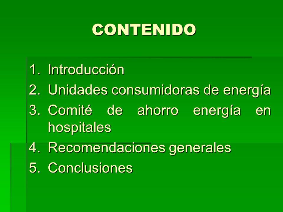 CONTENIDO Introducción Unidades consumidoras de energía