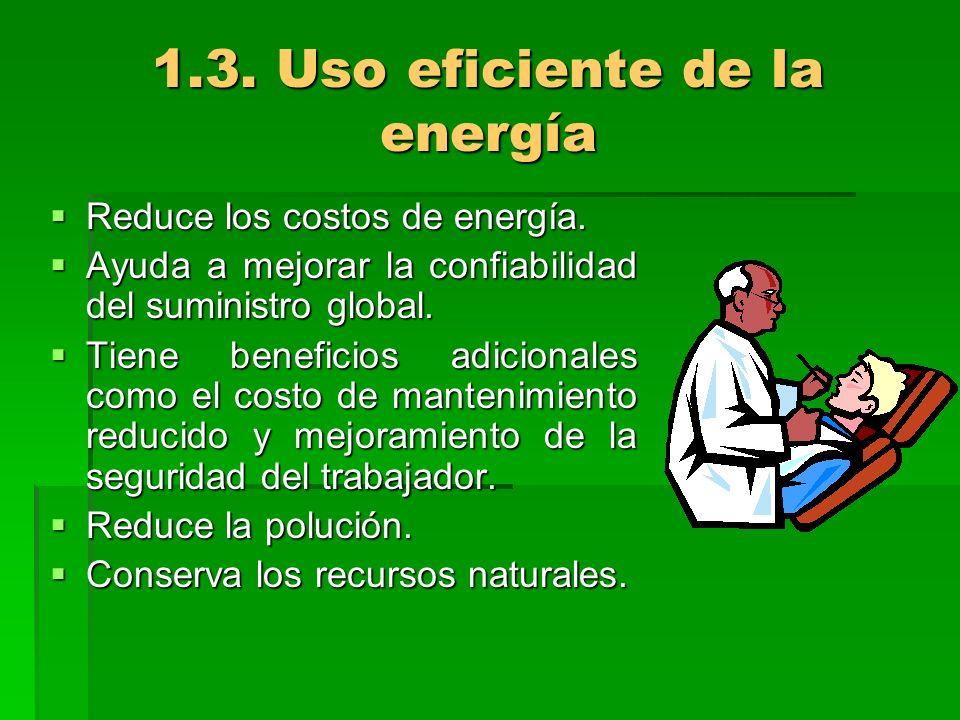 1.3. Uso eficiente de la energía