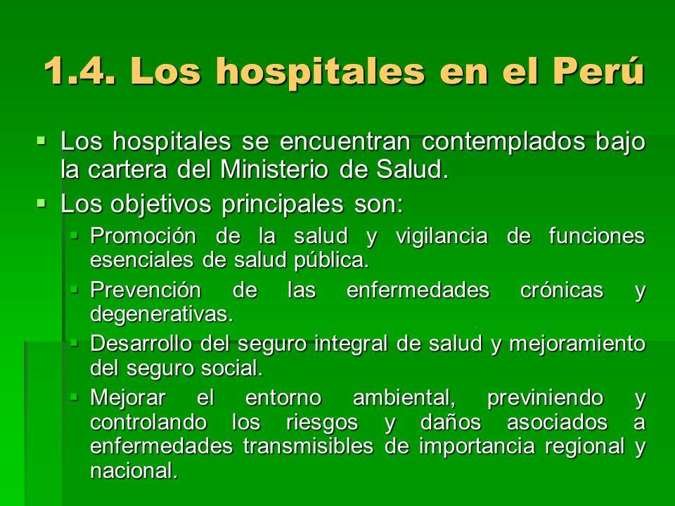 1.4. Los hospitales en el Perú