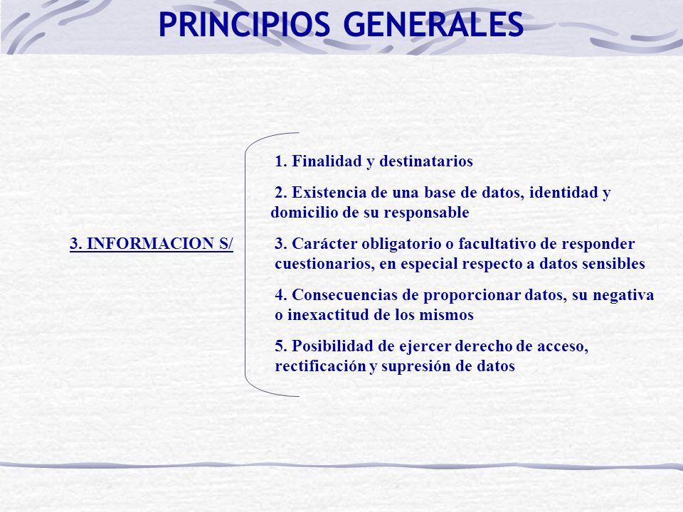 PRINCIPIOS GENERALES 1. Finalidad y destinatarios