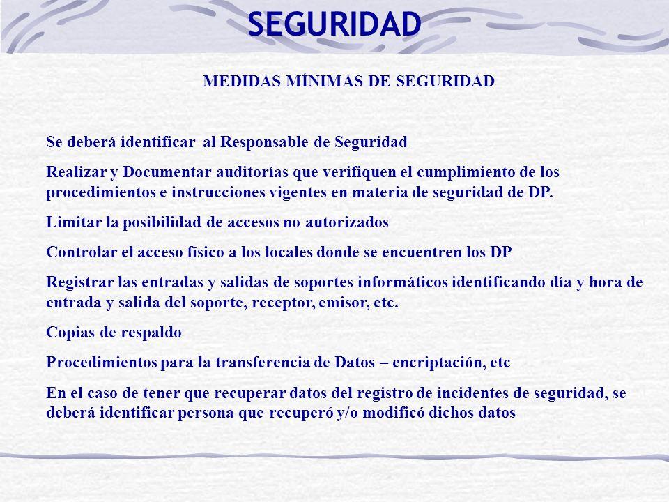 MEDIDAS MÍNIMAS DE SEGURIDAD