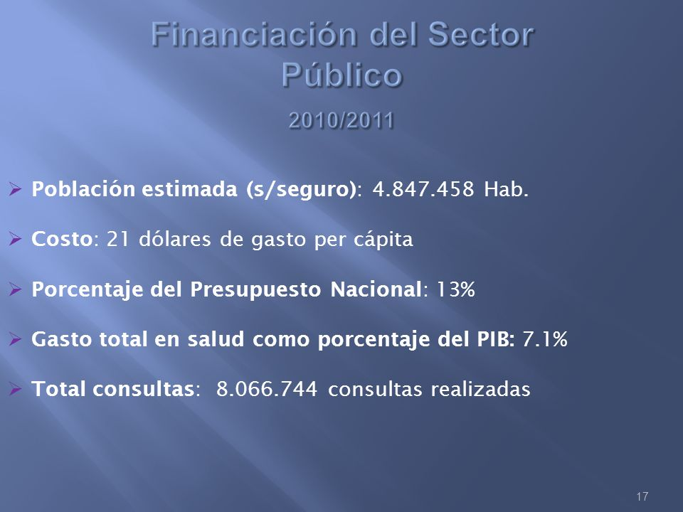 Financiación del Sector Público 2010/2011