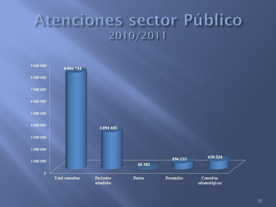 Atenciones sector Público 2010/2011