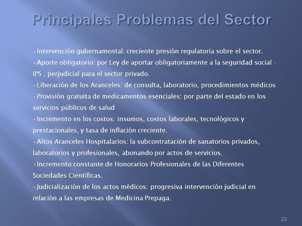 Principales Problemas del Sector
