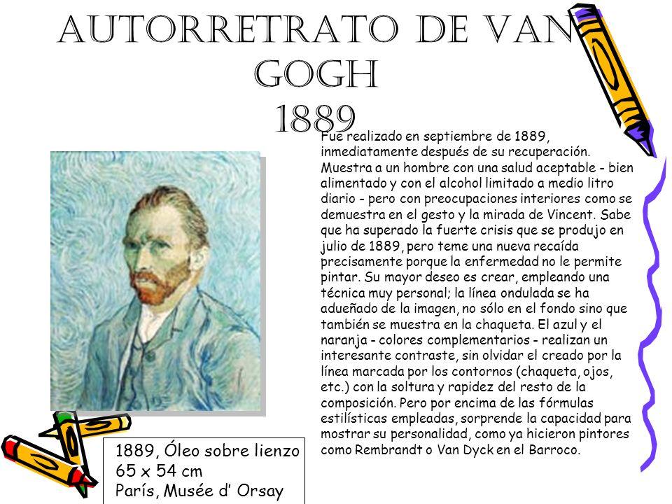 AUTORRETRATO DE VAN GOGH 1889