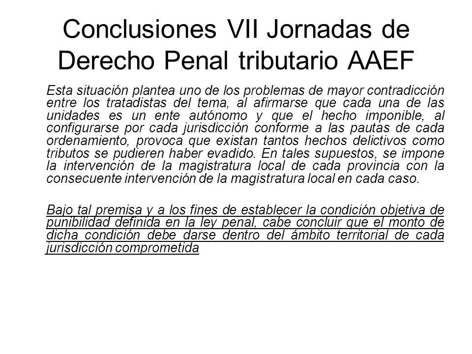 Conclusiones VII Jornadas de Derecho Penal tributario AAEF