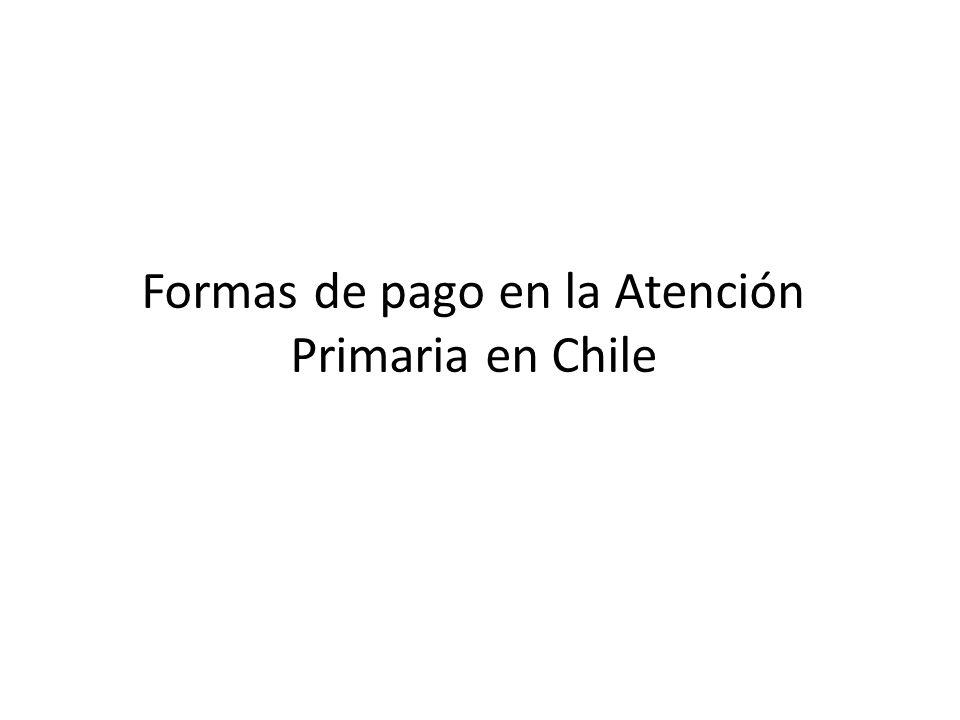Formas de pago en la Atención Primaria en Chile