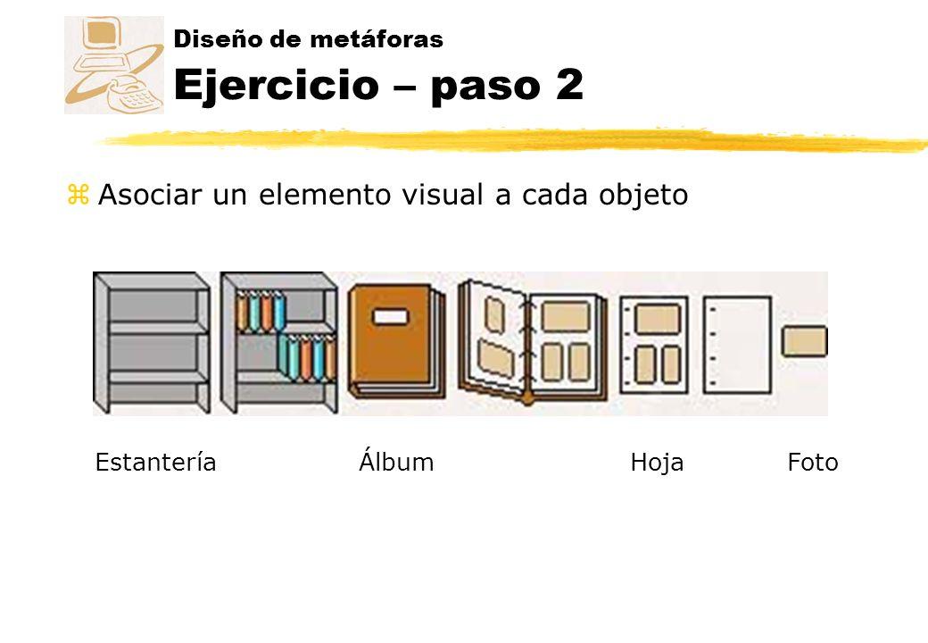 Diseño de metáforas Ejercicio – paso 2