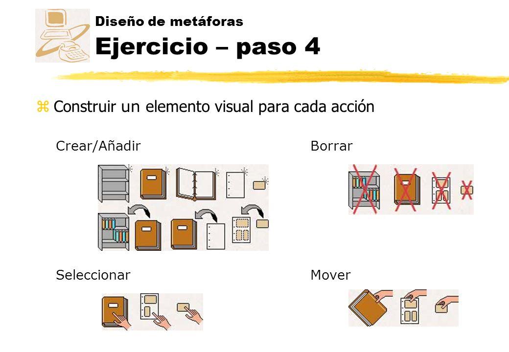 Diseño de metáforas Ejercicio – paso 4